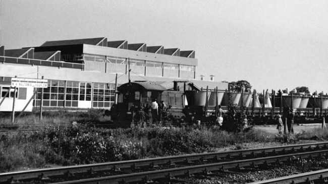 Transport by train at Nautamix Assen (1968)